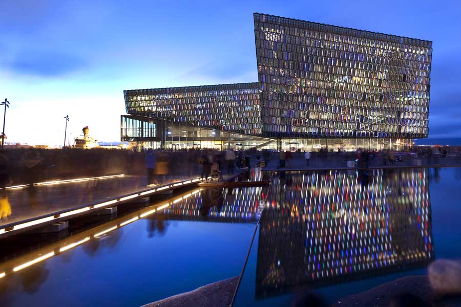 Harpa Concert Hall and Conference Centre in Reykjavik