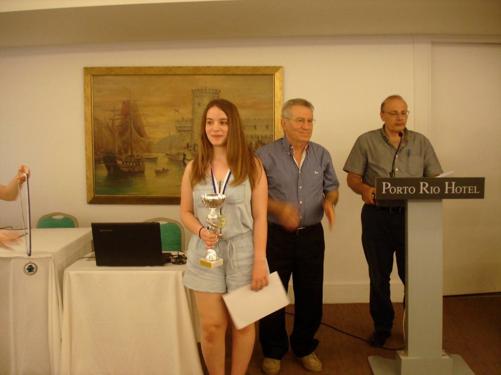 Κατερίνα Πάσογλου , Πρωταθλήτρια Ελλάδος Κ16 για το 2016